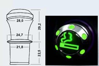 zigarettenanz nder gr n beleuchtet led beleuchtung hell ebay. Black Bedroom Furniture Sets. Home Design Ideas