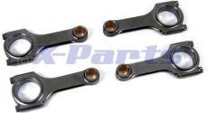 Pleuel H-Schaft Stahl hochfest 4er Set G40