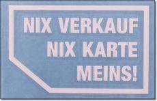 NIX VERKAUF NIX KARTE Typ 1 weiss 2er Set X-Parts Auto Aufkleber