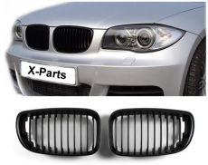 BMW E81 E82 E87 E88 Kühlergrill Nieren Schwarz Single-Steg