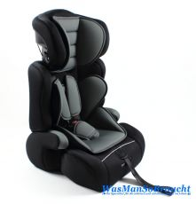 Kindersitz Gruppe 1-3 für Kinder von 9 bis 36 kg GRAU SCHWARZ