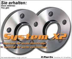 Spurverbreiterung 30 mm pro Achse - System A mit Zentrierung - Lochkreis 4x108 - NLB 63,4 mm