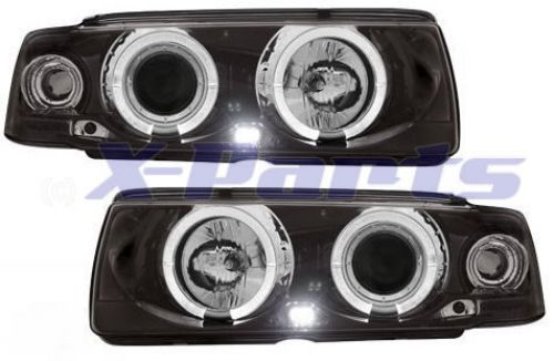 bmw 3er e36 coupe front scheinwerfer angel eyes schwarz. Black Bedroom Furniture Sets. Home Design Ideas