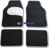 4-teiliges Set Fussmatten schwarz