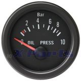 Retro Öldruckanzeige schwarz 52 mm