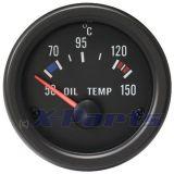 Retro Öltemperaturanzeige schwarz 52 mm