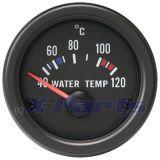 Retro Wassertemperaturanzeige schwarz 52 mm