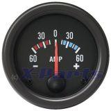 Retro Ampere - Meter schwarz 52 mm