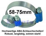 Schlauchschelle 58 bis 75 mm ABA
