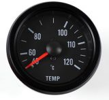 Retro Wassertemperaturanzeige schwarz 52 mm Typ 2