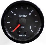 VDO Retro Ladedruckanzeige 3 Bar schwarz 52 mm