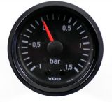 VDO Retro Ladedruckanzeige 1.5 Bar schwarz 52 mm