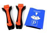 2x Notfall Hammer Gurt Schneider Glas Rettung + Parkscheibe mit 3 Einkaufschips