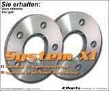 Spurverbreiterung 10 mm pro Achse - System A ohne Zentrierung - Lochkreis 4x100 + 4x108 - NLB 57,1 mm