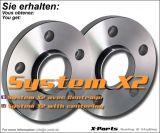 Spurverbreiterung 40 mm pro Achse - System A mit Zentrierung - Lochkreis 4x100 + 4x108 - NLB 57,1 mm