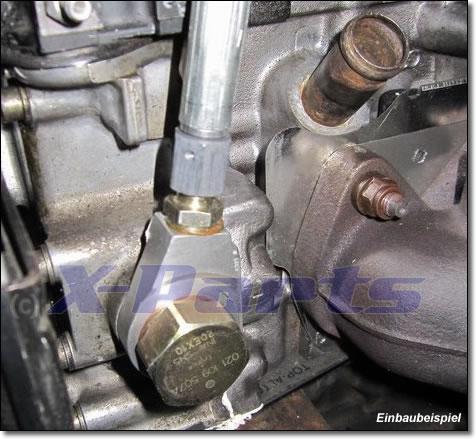 R32 Turbo Umbau Adapter Ölzulauf Ölzulaufadapter Kettenspanner Turbolader VR6