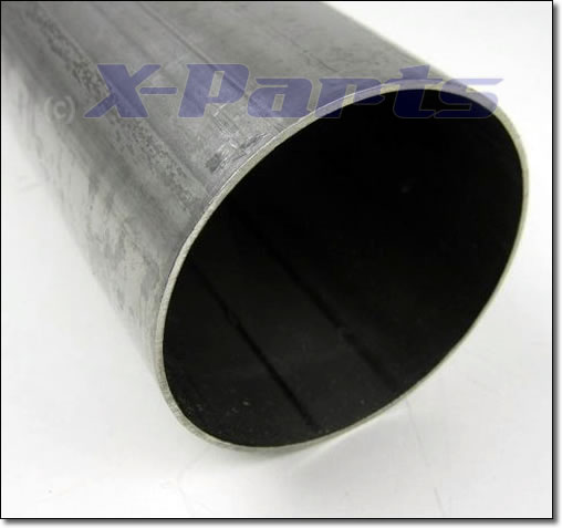 Edelstahl Rohr 3 Zoll (76 mm) gerade 50 cm lang