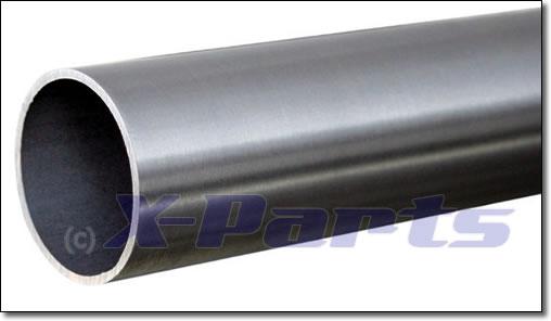 Edelstahl Rohr 3 Zoll (76 mm) gerade 1 m lang