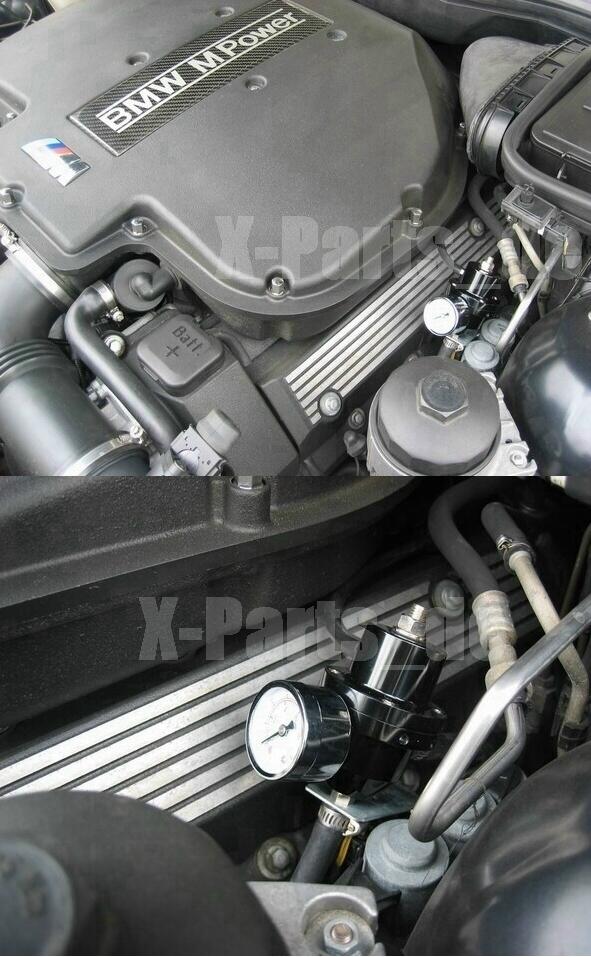 Benzindruckregler schwarz mit Druckanzeige universell für alle Fahrzeuge Neu