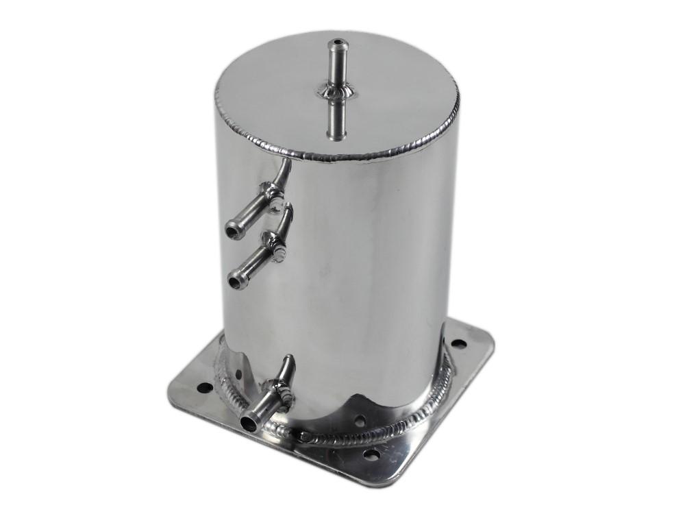Öl Auffangbehälter rund chrom 1,0 Liter