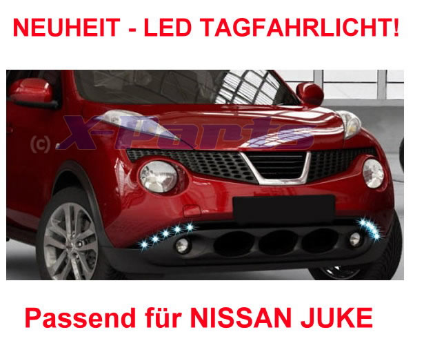 led tagfahrlicht tagfahrleuchten nissan juke e pr fzeichen daytime running light ebay. Black Bedroom Furniture Sets. Home Design Ideas