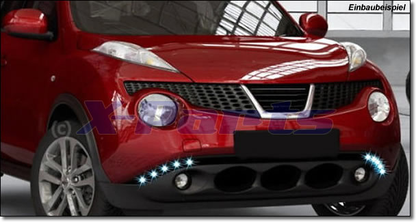 Nissan juke led tagfahrlicht daylight for Nissan juke licht