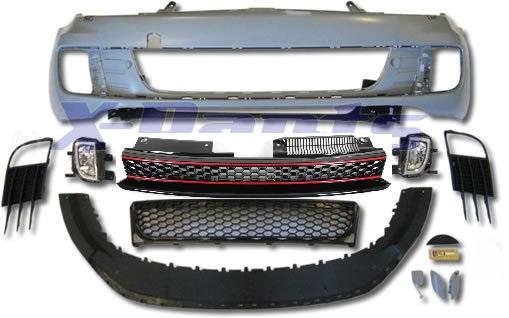 vw golf 6 front sto stange gti look grill nebelscheinwerfer. Black Bedroom Furniture Sets. Home Design Ideas