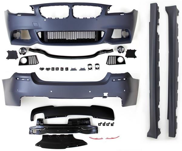 5er BMW F10 Body-Kit Front, Seite und Heck M-Look Lieferumfang