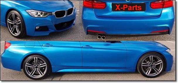 3er BMW F30 Body-Kit Front, Seite und Heck M-Look