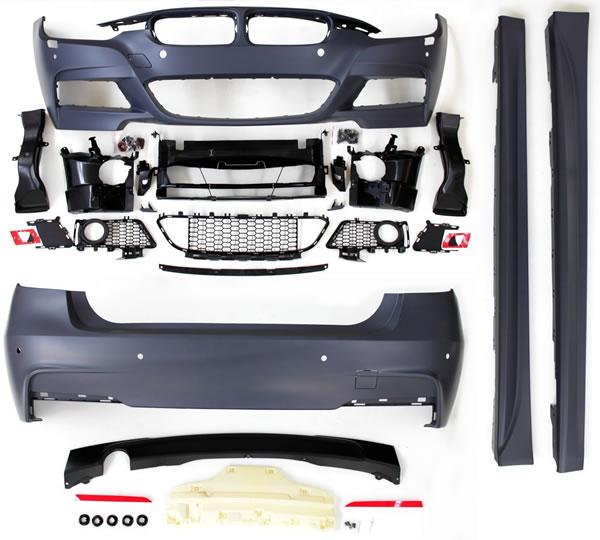3er BMW F30 Body-Kit Front, Seite und Heck M-Look Lieferumfang