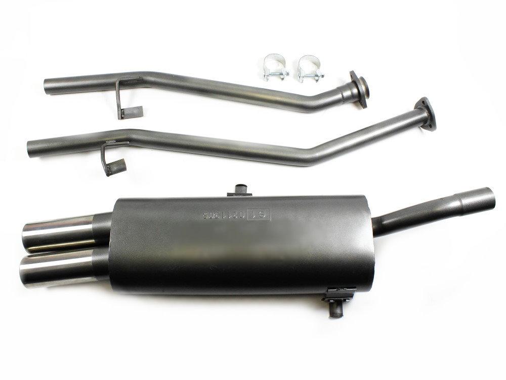 3er BMW E36 Sportauspuff 6 Zylinder Doppelrohr 76 mm
