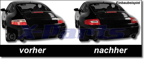 Porsche 911 996 LED Rückleuchten klarglas-rot