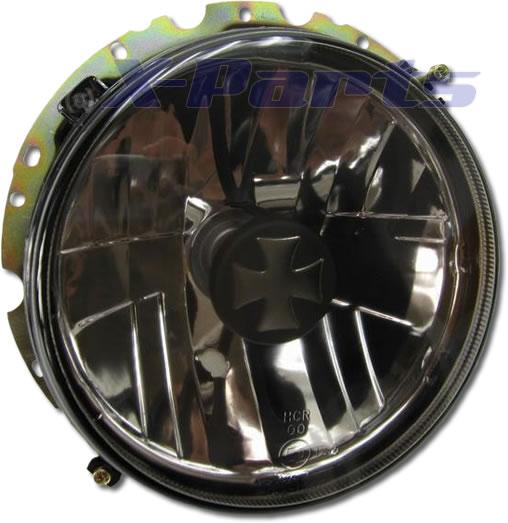 scheinwerfer eisernes kreuz schwarz golf 1 cabrio h4 ebay. Black Bedroom Furniture Sets. Home Design Ideas