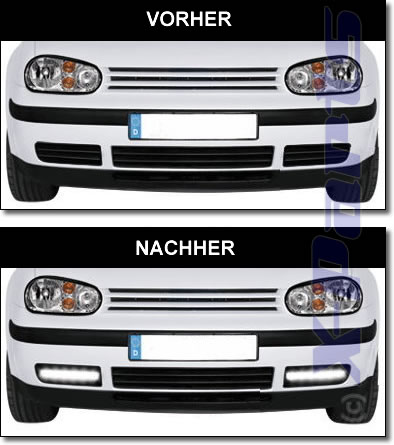 led tagfahrlicht vw golf 4 iv r87 modulite chrom t v ebay. Black Bedroom Furniture Sets. Home Design Ideas