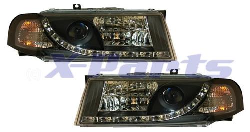 skoda octavia 1u front scheinwerfer mit tagfahrlicht schwarz. Black Bedroom Furniture Sets. Home Design Ideas