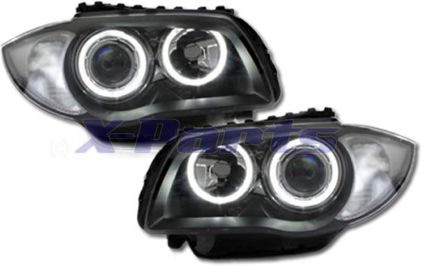 bmw e87 1er front scheinwerfer angel eyes. Black Bedroom Furniture Sets. Home Design Ideas
