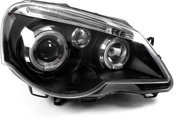 VW Polo 9N 9N3 Scheinwerfer LED Angel Eyes Einzelheiten
