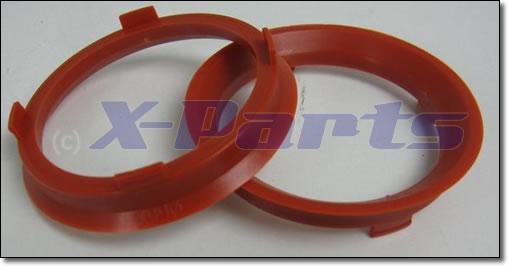 Aussen 72,6 mm 4x Zentrierringe Durchmesser Innen 57,1 mm