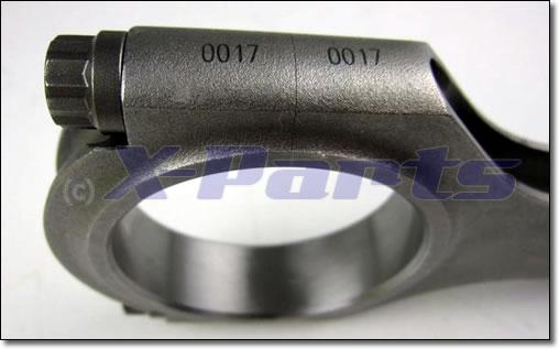 Pleuel H-Schaft Stahl hochfest 6er Set VW 6-Zylinder VR6 V6 R32