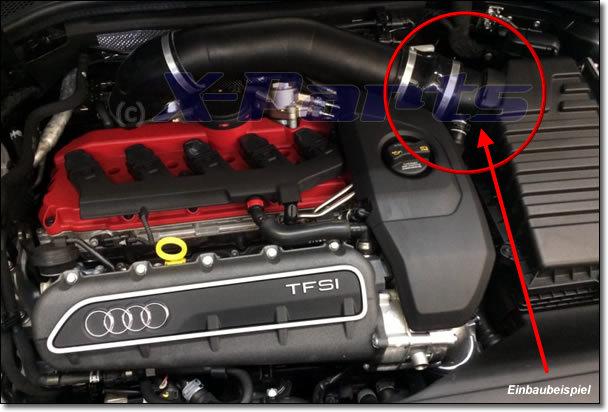 AUDI RS3 8V TTRS 8J 2.5 TFSI Luftfilter Anschluss 90 mm Stutzen Details