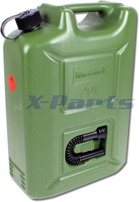 Relativ Kanister Benzinkanister 20 Liter HÜNERSDORFF PK57