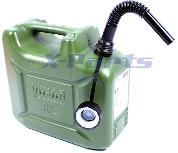 10l benzinkanister kraftstoff kanister olivgr n 10 liter. Black Bedroom Furniture Sets. Home Design Ideas