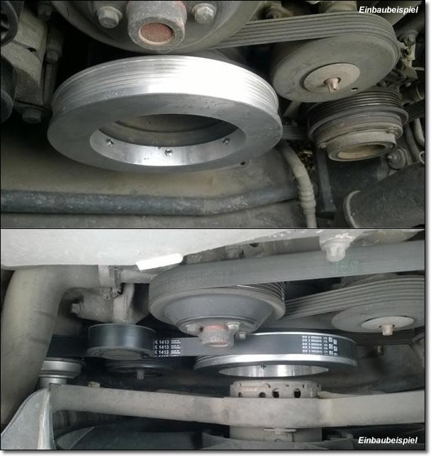 Kompressor Tuning Kit 185mm für Mercedes C- E-Klasse CLK Details