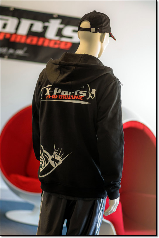 X-Parts PERFORMANCE Hoody Zipper II Sweatjacke SCHWARZ